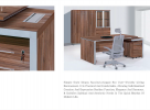 Director Table G-801-Cappucino Director Table Office Furniture