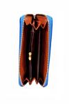 Yona Fashion Gelaren Leather Purse (Blue) Leather Purse Purses