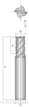 4Flute Endmill Hano Cutting Tools