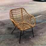 RATTAN + METAL LOUNGE CHAIR TAUFU