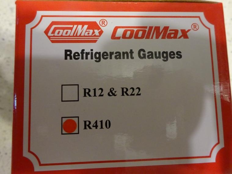COOLMAX CM OIL-FILLED BACK CONNECTION R410A PRESSURE GAUGE COOLMAX