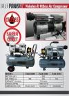 EAX-5030 30Lts Silent Oil Less/free Air Compressor IDB0252 Europower & Eurox & Robintec  Air Compressor