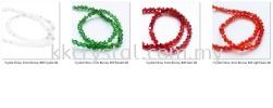 Crystal China, 3mm Bicone, B46 Siam AB Bicone 03mm Beads