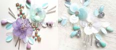 Chunky Beads, Square, 12x12mm, Crystal AB, 20pcs/pack Chunky Beads - A1 Acrylic Colour Sew On