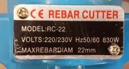 Electric Rebar Cutter RC-22 ID30314 Bender & Cutter (Electric & Engine)  Contruction Equipment