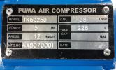Taiwan Puma 5HP 250L 12bar High Pressure Air Compressor TK-50250 ID30347  Puma  Air Compressor