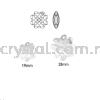 Swarovski 6764 Clover Pendant, 19mm, Crystal Silver Night (001 SINI), 1pcs/pack Swarovski 6764 Clover Pendant Pendants  Swarovski® Crystal Collections