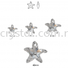 Swarovski 6721 Starfish Pendant, 20mm, Crystal AB (001 AB), 1pcs/pack Swarovski 6721 Starfish Pendant Pendants  Swarovski® Crystal Collections