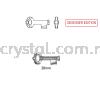 Swarovski 6919 Key Pendant, 30mm, Crystal Silver Night (001 SINI), 1pcs/pack Swarovski 6919 Key Pendant Pendants  Swarovski® Crystal Collections