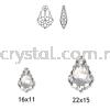 Swarovski 6090 Baroque Pendant, 16x11mm, Black Diamond (215), 1pcs/pack Swarovski 6090 Baroque Pendant Pendants  Swarovski® Crystal Collections