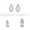 Swarovski 6007 Small Briolette Pendant, 7x4mm, Crystal Silver Shade (001 SSHA), 2pcs/pack Swarovski 6007 Small Briolette Pendant Pendants  Swarovski® Crystal Collections