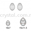 Swarovski 6002 Oval Disco Pendant, 10x7mm, Crystal AB (001 AB), 1pcs/pack Swarovski 6002 Oval Disco Pendant Pendants  Swarovski® Crystal Collections