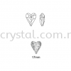 Swarovski 6240 Wild Heart Pendant, 17mm, Crystal Silver Shade (001 SSHA), 1pcs/pack Swarovski 6240 Wild Heart Pendant Pendants  Swarovski® Crystal Collections