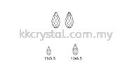 Swarovski 6010 Briolette Pendants, 11x5.5mm, Crystal AB (001 AB), 2pcs/pack Swarovski 6010 Briolette Pendant Pendants  Swarovski® Crystal Collections