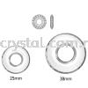 Swarovski 6039 Disk Pendant, 25mm, Crystal (001), 1pcs/pack Swarovski 6039 Disk Pendant Pendants  Swarovski® Crystal Collections