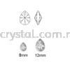 6128 Swarovski Mini Pear Pendants, 12mm, Crystal AB (001 AB), 2pcs/pack Swarovski 6128 Xilion Mini Pear Pendant Pendants  Swarovski® Crystal Collections