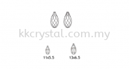 Swarovski 6010 Briolette Pendants, 11x5.5mm, Peridot (214), 2pcs/pack (BUY 1 FREE 1) Swarovski 6010 Briolette Pendant Pendants  Swarovski® Crystal Collections