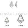Swarovski 6090 Baroque Pendant, 16x11mm, Light Colorado Topaz (246), 1pcs/pack Swarovski 6090 Baroque Pendant Pendants  Swarovski® Crystal Collections