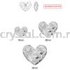 Swarovski 6264 Truly In Love Heart, 28mm, Crystal Satin (001 SATIN), 1pcs/pack Swarovski 6264 Truly In Love Heart Pendants  Swarovski® Crystal Collections