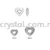 Swarovski 6262 Miss U Heart Pendant, 17mm, Crystal Satin (001 SATIN), 1pcs/pack Swarovski 6262 Miss U Heart Pendant Pendants  Swarovski® Crystal Collections