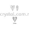 Swarovski 6240 Wild Heart Pendant, 17mm, Crystal Antique Pink (001 ANTP), 1pcs/pack Swarovski 6240 Wild Heart Pendant Pendants  Swarovski® Crystal Collections