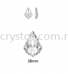 Swarovski 6091 Flat Baroque Pendant, 28mm, Crystal AB (001 AB), 1pcs/pack Swarovski 6091 Flat Baroque Pendant Pendants  Swarovski® Crystal Collections