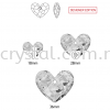 Swarovski 6264 Truly In Love Heart, 18mm, Crystal Satin (001 SATIN), 1pcs/pack Swarovski 6264 Truly In Love Heart Pendants  Swarovski® Crystal Collections