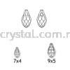 Swarovski 6007 Small Briolette Pendant, 7x4mm, Jet (280), 2pcs/pack Swarovski 6007 Small Briolette Pendant Pendants  Swarovski® Crystal Collections