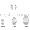 Swarovski 6106 Pear Pendant, 16mm, Light Rose (223), 1pcs/pack Swarovski 6106 Pear Pendant Pendants  Swarovski® Crystal Collections