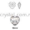 6215 Swarovski Fancy Heart Pendants, 18mm, Crystal AB (001 AB), 1pcs/pack Swarovski 6215 Fancy Heart Pendant Pendants  Swarovski® Crystal Collections