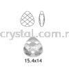 Swarovski 6012 Flat Briolette Pendant, 15.4x14mm, Crystal AB (001 AB), 1pcs/pack Swarovski 6012 Flat Briolette Pendant Pendants  Swarovski® Crystal Collections