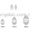 Swarovski 6106 Pear Pendant, 16mm, Aquamarine (202), 1pcs/pack Swarovski 6106 Pear Pendant Pendants  Swarovski® Crystal Collections