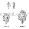 Swarovski 6735 Leaf Pendant, 32x20mm, Crystal AB (001 AB), 1pcs/pack Swarovski 6735 Leaf Pendant Pendants  Swarovski® Crystal Collections