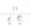 Swarovski 6722 Moon Pendant, 30mm, Crystal AB (001 AB), 1pcs/pack Swarovski 6722 Moon Pendant Pendants  Swarovski® Crystal Collections