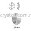 Swarovski 6734 Pure Leaf Pendant, 23mm, Crystal Golden Shadow (001 GSHA), 1pcs/pack Swarovski 6734 Pure Leaf Pendant Pendants  Swarovski® Crystal Collections