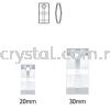 Swarovski 6696 Urban Pendant, 20mm, Crystal Silver Night (001 SINI), 1pcs/pack Swarovski 6696 Urban Pendant Pendants  Swarovski® Crystal Collections
