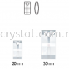 Swarovski 6696 Urban Pendant, 20mm, Crystal Tabac (001 TAB), 1pcs/pack Swarovski 6696 Urban Pendant Pendants  Swarovski® Crystal Collections