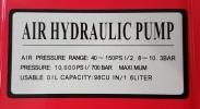 Foot Air Hyd Pump with Hyd Hose ID30509 ID31309 Tyre Equipment Garage (Workshop)