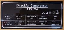 Robintec 2.5hp 24L Air Compressor ID30623 Europower & Eurox & Robintec  Air Compressor