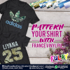 France Vinyl PU (7 Types of Patterns) France Vinyl Heat Transfer Vinyl Fulry Heat Transfer Vinyl