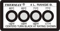 THERMAX 4 LEVEL TEMPERATURE STRIPS THERMAX TEMPERATURE STRIPS