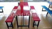 6 Seater Canteen Table & Bench Food Court Set Food Court Furniture / Canteen Furniture