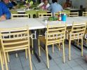 MSD07 Metal Side Chair Mild Steel Side Chair  Food Court Furniture / Canteen Furniture