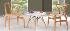 ST-SC-T009-3 PP Side Table with Beechwood Leg Side Table Table