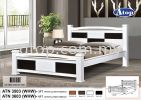 Atop ATN 3503WHW Queen Size Bed Frame New Product Queen Size Bed Frame (5ft)