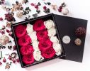 RED SORBET Black Flower Box Online Flower Delivery