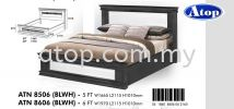 Atop ATN 8506BLWH Bed Frame 2017 SERIES Queen Size Bed Frame (5ft)