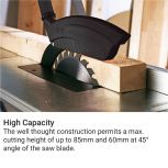METABO TABLE SAW, BLADE: 315MM X 30MM, TABLE SIZE: 800X550MM, M.CUTTING HT: 85MM, 400V,3PH