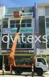 dismental  Giant billboard  3 storey shop lot small  signboard 2016 (before ) (click for more detail) Installation / Dismantle and Washing Services