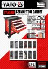 Yato YT-55300 Roller Cabinet with Tools 6-Drawers ID999709   Cabinet Tool Cart Tool Storage & Tool Boxes